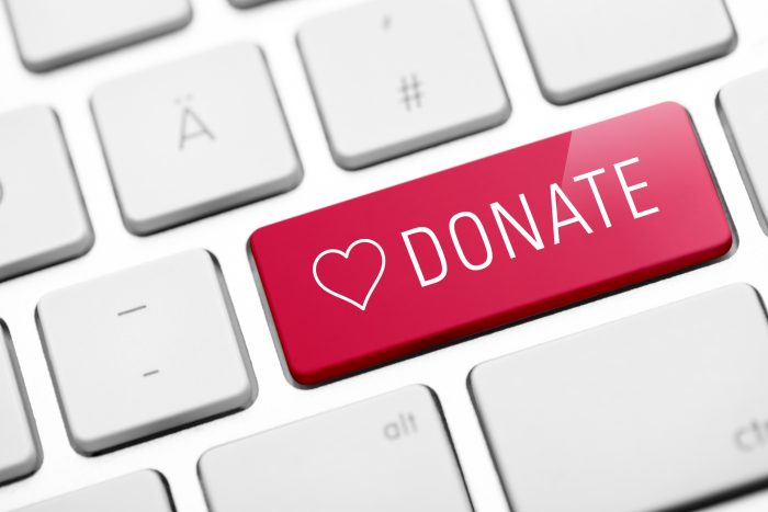 online donate key on keyboard