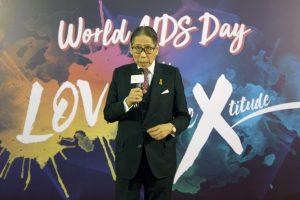 香港愛滋病基金會主席梁智鴻醫生致辭
